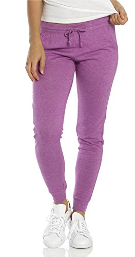 Midweight Sweatpants (VbrandeD Women's Lightweight Fitted Skinny Joggers Sweatpants Orchid Violet Purple X-Small)