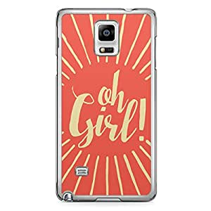 Oh Girl Samsung Note 4 Transparent Edge Case - Titles Collection