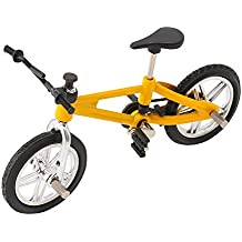 SupremeLife Finger Baby Monkey Bike, Mini Finger Bicycle, Metal Cool Toy, Creative Toy for Finger Monkey Collection, Best Christmas Gift (Yellow)