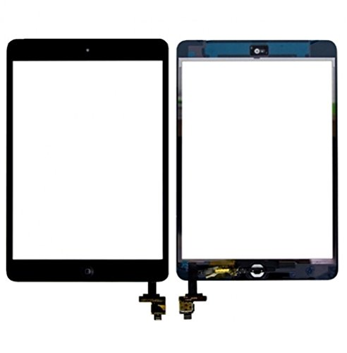 Black iPad Mini Touch Screen Digitizer Complete Assembly with IC Chip & Home Button Replacement with tool kit