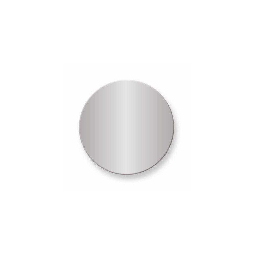 1 x 1 Round Polished Alum Plates-Sets of 6 by viStar (Image #1)