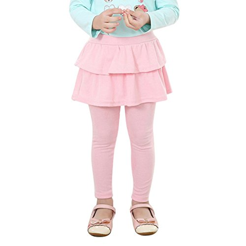 (Weixinbuy Girls Double Layer Skirts Pants Cashmere Culottes (120/5T,)
