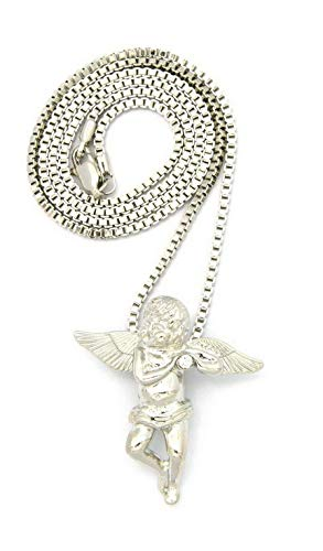 (Werrox New Angel Micro Pendant 2mm/24 Box Chain Hip HOP Small Necklace - MMP1BX | Model NCKLCS - 4137 | )
