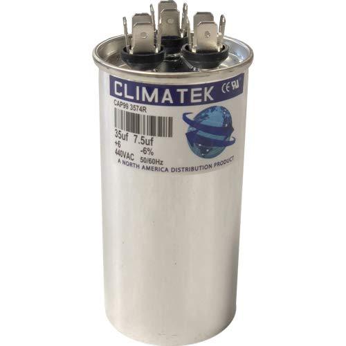 ClimaTek Round Capacitor 35//7.5 uf MFD 370//440 Volt VAC fits Goodman # D6789062