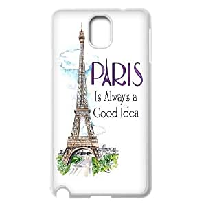FOR Samsung Galaxy NOTE3 Case Cover -(DXJ PHONE CASE)-Tourism Eiffel Tower in Paris-PATTERN 18