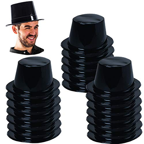 Black Plastic Top Hat - Tigerdoe Plastic Top Hats - Magician