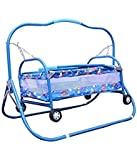 PoshTots Newborn Baby Cradle , Cot , Crib , Bassinet , Stroller And Swing Small baby birthday Gift Toy (Unisex)