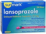 Sunmark Lansoprazole, 24 Hour Acid Reducer, Delayed Release Capsules - 42 Capsules, Pack of 6