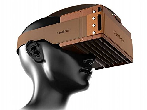 Headset VR, Focalmax Foldable 3D VR Glasses with Comfortable Leather Texture, Virtual Reality Headset in Coffee Color by Focalmax