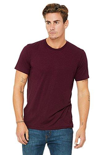 Bella Canvas Herren Triblend Kurzarm T-Shirt Massiver Maroon Triblend