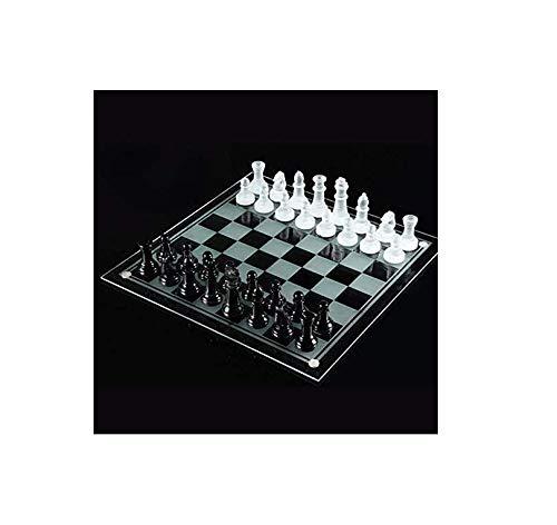 Lloow Conjuntos de ajedrez de Cristal – Establece Internacional de Ajedrez Juegos de Viaje de Juegos portátiles de…