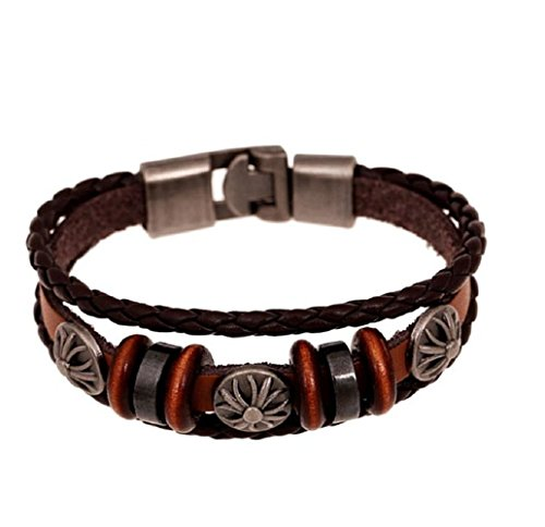 Adorable Woman Leather Bracelet & Bangles Jewelry