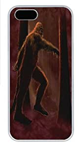 Big Foot Polycarbonate Hard Case Cover for iPhone 5/5S White by runtopwell