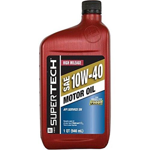 SuperTech High Mileage 10W40 Motor Oil, 1 qt