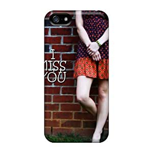 Cute Appearance Cover/tpu PNpzwHt5114sMtkK Miss You Case For Iphone 5/5s
