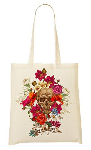 of the Los muertos Skull Roses Vintage Simple Tattoo Shape Bolso De Mano Bolsa De La Compra