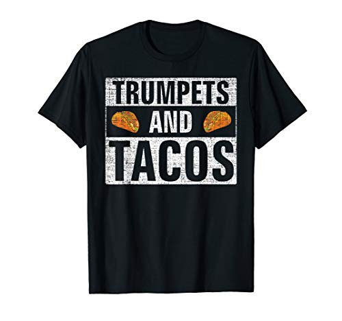 Vintage Trumpets and Tacos T-Shirt Funny Orchestra Gift