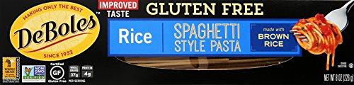 DeBoles Pasta Rice Gluten Free, Spaghetti, 8 oz Deboles Gluten Free Rice