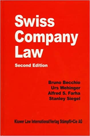swiss company law 2e comparative law yearbook series alfred