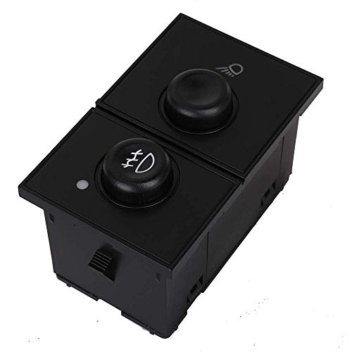 Fog Light Switch & Cargo Lamp Switch for 2003-2007 Cadillac Escalade & Chevy Avalanche Silverado Suburban Tahoe & GMC Sierra Yukon Replace # 15143597 ()