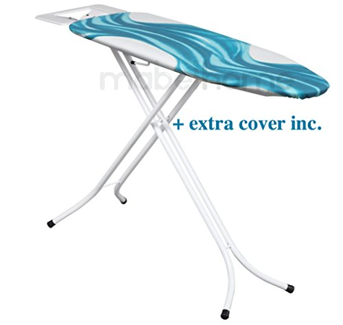 Mabel Home Adjustable Height, Deluxe, 4-leg, ironing Board, + Extra Cover - Full Size Ironing Board