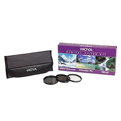 Hoya 52mm Digital Filter Kit - HMC UV(C), Circular Polarising & NDx8 with Filter - Filter Glasses Polarising