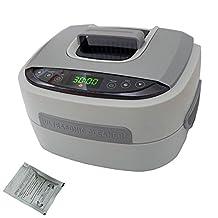 iSonic P4821-CE+2TSP Commercial Ultrasonic Cleaner, 2.6 quart/2.5 L, Plastic Basket, 220-240V, VDE Plug, Beige
