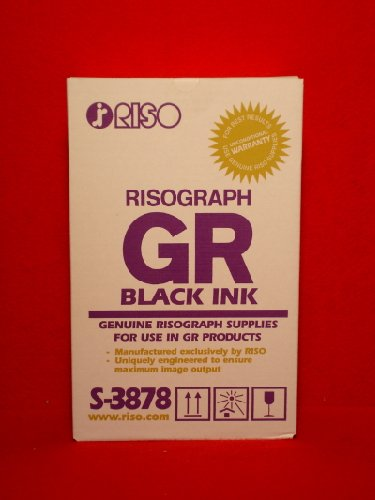 RISOGRAPH BLACK S3878 TONER FOR USE IN RISOGRAPH GR-1700 1750 2710 2750 This Product is Genuine Ris (Risograph Toner Black)