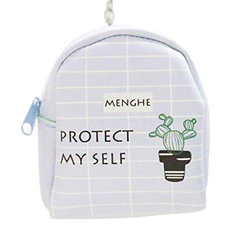 Cartera de Cuero Llavero, Holacha Mini Monodero Clutch Forma de Mochila Backpack Lindo para Mujeres Chicas H