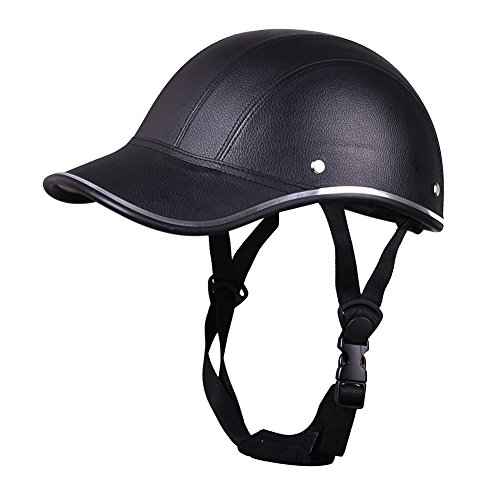 Aneil Motorcycle Half Helmet Visor for Men Women Riding with Adjustable Strap (Black)
