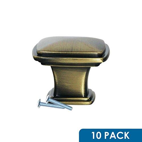 (Rok Hardware Temple Square Style Metal Decorative Kitchen Dresser Cabinet Drawer Knob 1-7/32