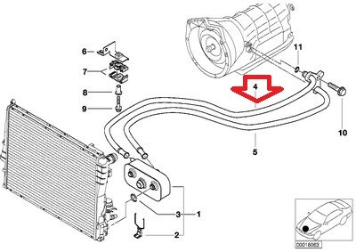 Amazon bmw genuine transmission cooling line automatic amazon bmw genuine transmission cooling line automatic transmission outlet for 320i 323ci 323i 325ci 325i 330ci 330i e46 automotive cheapraybanclubmaster Gallery