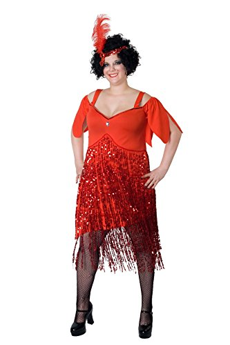 Sunnywood Women's Lava Diva Plus Size Flapper, Red, 3X-Large -