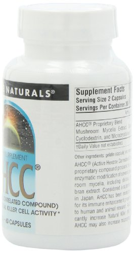 SOURCE NATURALS Ahcc Active Hexose Correlated Compound 500 Mg Capsule, 60 Count by Source Naturals (Image #3)