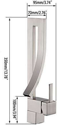 Jiuzhuo design moderne et cr/éatif design moderne et créatif Mitigeur de lavabo de salle de bain /à levier simple et avec bec verseur de type cascade