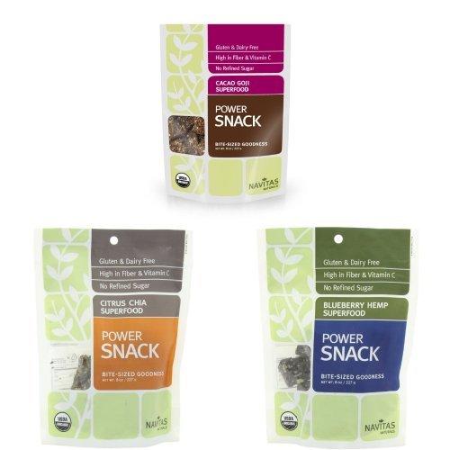 - Navitas Superfood Snacks Variety Pack (Three 8-Ounce Packs Total)