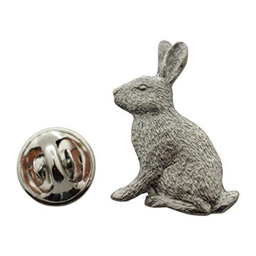 Sarah's Treats & Treasures Rabbit Pin ~ Antiqued Pewter ~ Lapel Pin
