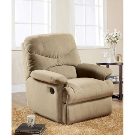 Eshion Wall Hugger Microfiber Recliner Adjustable Chair for Living Room, Multiple Colors (Beige) (Saddle Reclining Sectional)