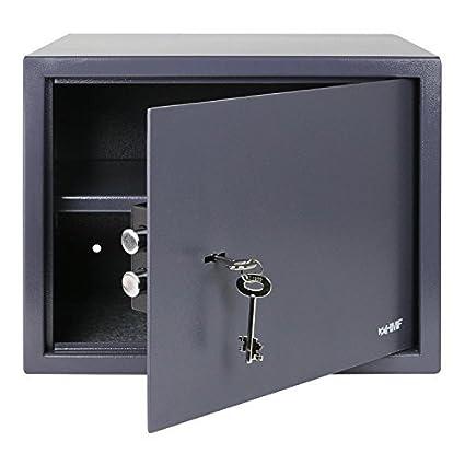 HMF 49203-11 Caja Fuerte Cerradura De Doble Paletón, 38 x 30 x 30