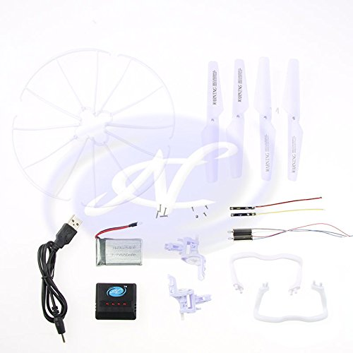 lacement Parts Set, Battery, USB Cable, Charger Box, Motor Base, Main Blades, Propellers Protectors, Light kits For Syma X5 X5C ()