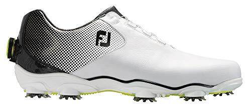 FootJoy Men's D.N.A. Helix Boa-Previous Season Style Golf Shoes White 11 XW Black, US