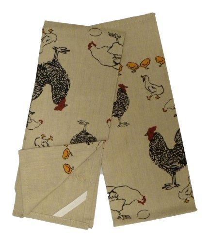 (Chickens Novelty Print Motif Kitchen Towels, Set of 2)