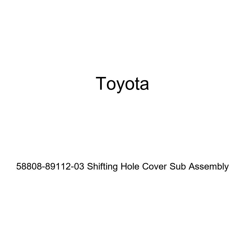Toyota Genuine 58808-89112-03 Shifting Hole Cover Sub Assembly