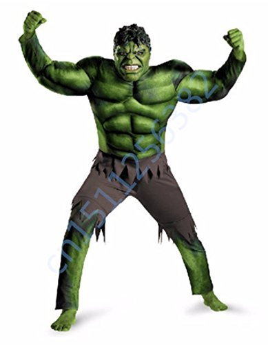 [The Avengers Incredible Hulk Superhero Costume for Boys Kids Halloween Costume Children Gifts Fantasy Muscle Mask Cosplay] (Incredible Hulk Costumes)