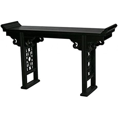 Black Wooden Altar Table Model R088S B