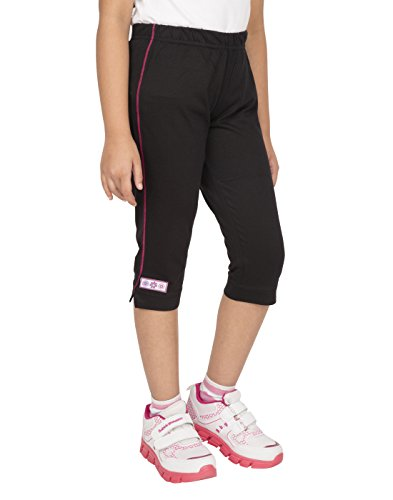OCEAN RACE Girls attarctive Colors Cotton Capris(3/4 Th Pant)-Pack of 3