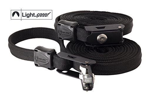 Lightspeed Outdoors Locking Security Strap with Steelcore (Black, 12' - 2 Pack)
