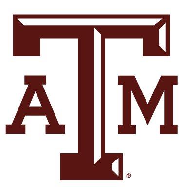 Texas A&M Aggies ATM BLOCK LOGO Clear Vinyl Decal Car Truck Sticker aTm TAM