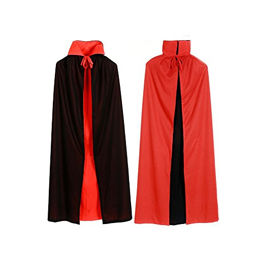 [Herebuy8 Men Women Halloween Cloak Collar for Vampire Cape Cosplay Masquerade Costume (140cm)] (Adult Vampire Halloween Costumes)