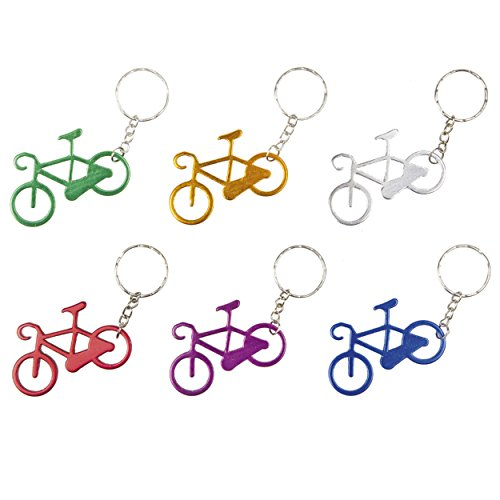 Ventura Assorted Color Bicycle Key Chain (Pack of 12), - Bike Keychain